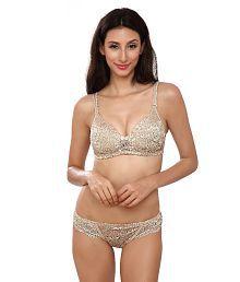 Lady Love Beige Lace Bra & Panty Sets