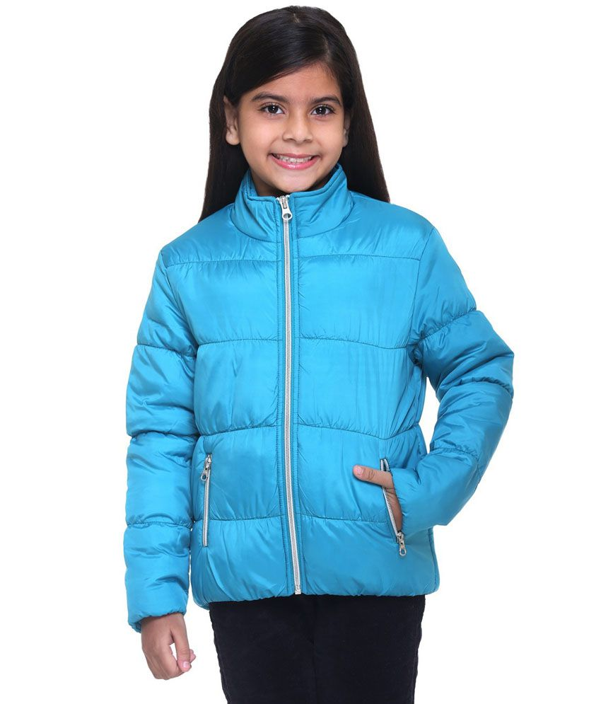 Kids-17 Blue Polyester Padded Jacket