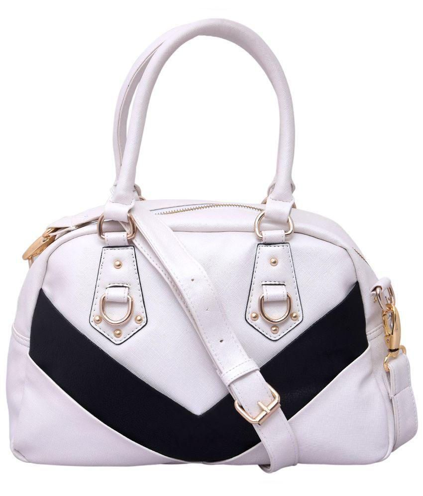 Kleio White P.U. Shoulder Bag