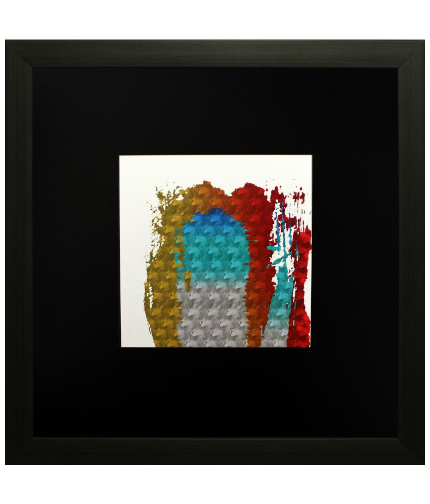 SAF Multicolour Abstract Painting with Wooden Frame