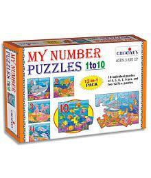 Creative's Multicolour My Number Puzzles 1 To 10 Game