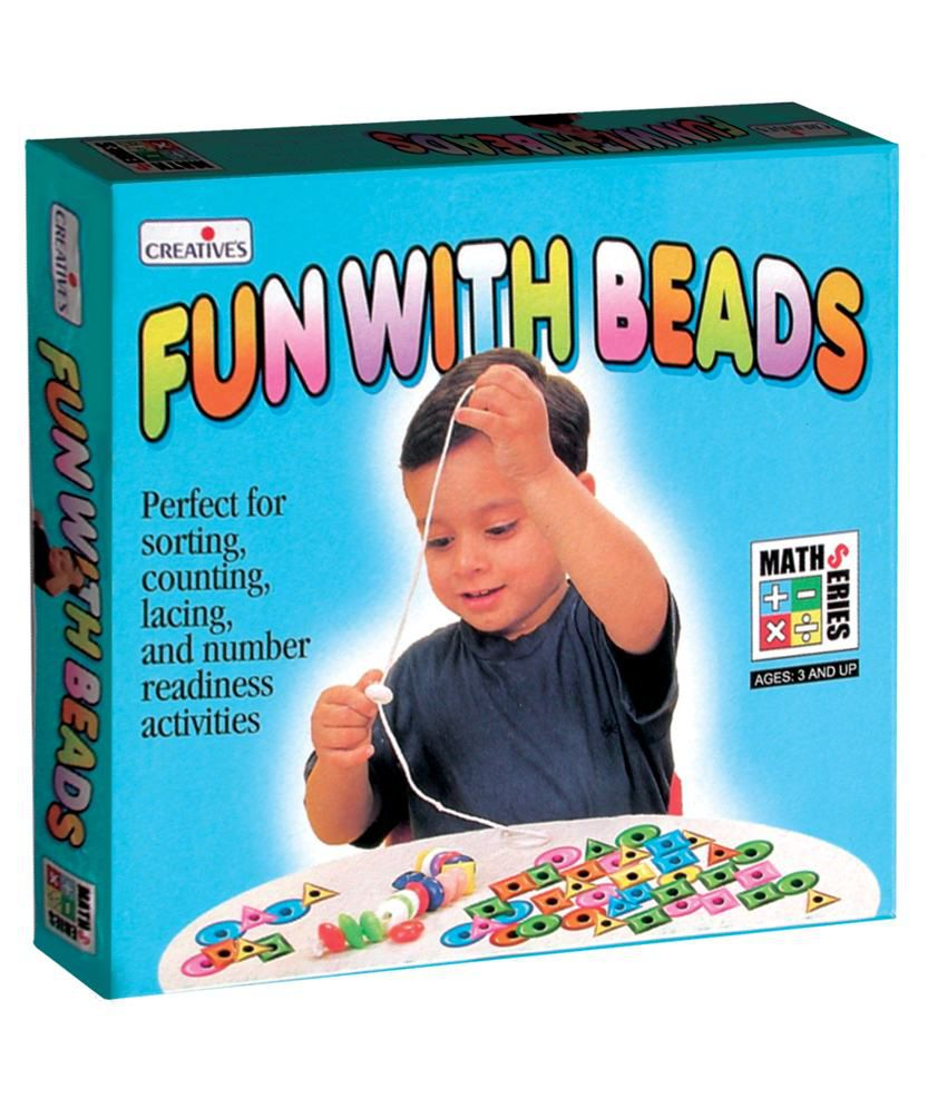 Creatives Creative's Multicolour Fun With Beads Is Perfect For Sorting, Counting, Lacing, Patterning & Number Readiness Activities Game