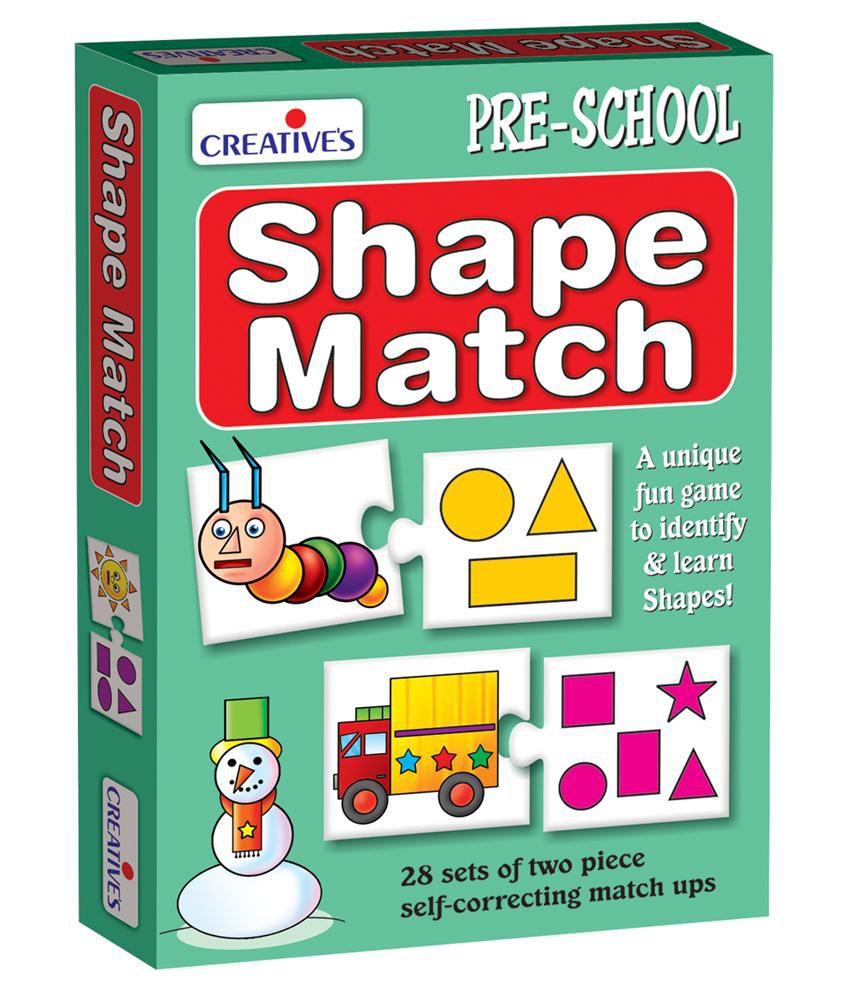 Creative's Multicolour Shape Match Unique Fun Game For Pre-schooler's To Learn About Basic Geometrical Shapes. Game