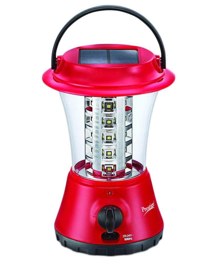 Prestige Red And White Solar Led Cer Emergency Light