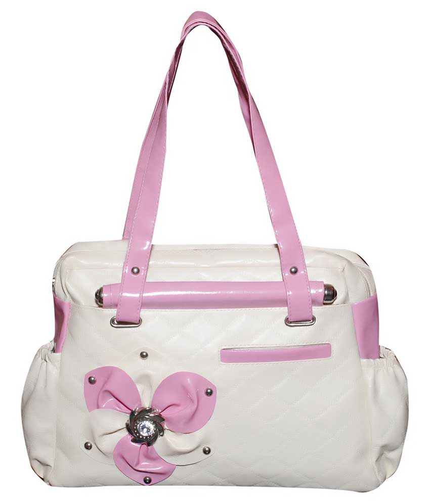 Stunner White P.U. Shoulder Bag