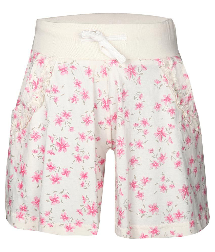 Gini & Jony White 100% Cotton Shorts