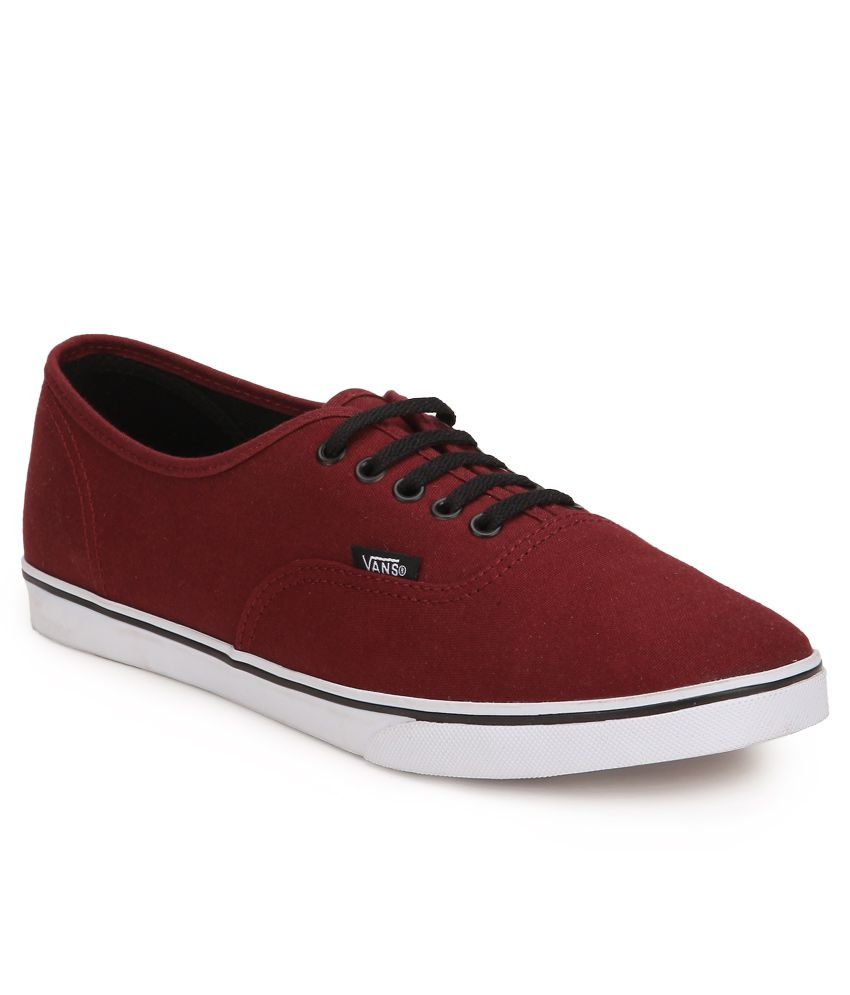 Vans Authentic Lo Pro Maroon Canvas Casual Shoes - Buy Vans Authentic Lo Pro  Maroon Canvas Casual Shoes Online at Best Prices in India on Snapdeal c1cd1efd1