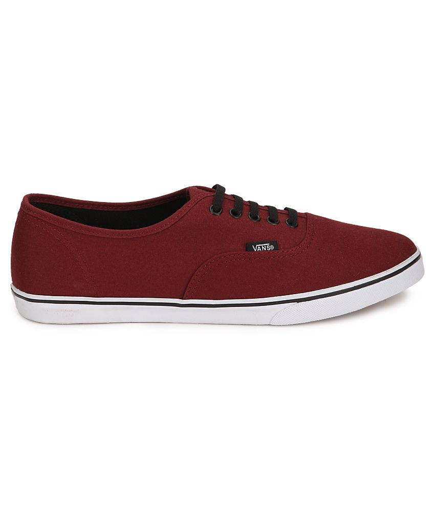 Vans Authentic Lo Pro Maroon Canvas Casual Shoes - Buy Vans ...