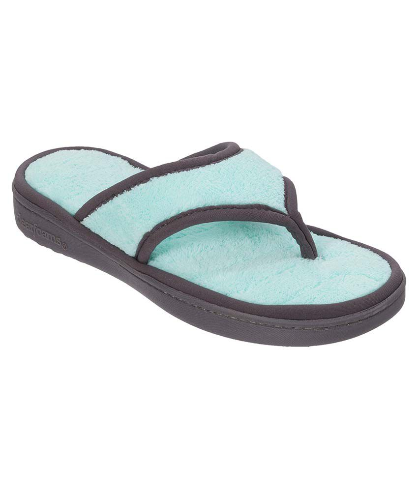 Dearfoams Blue Slippers & Flip Flops