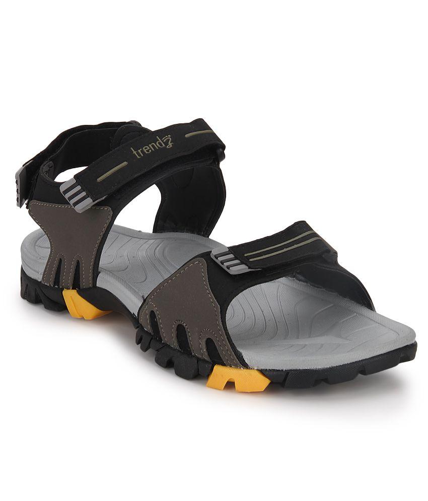 5fe14ce3b1d1 VKC Black Floater Sandals - Buy VKC Black Floater Sandals Online at Best  Prices in India on Snapdeal