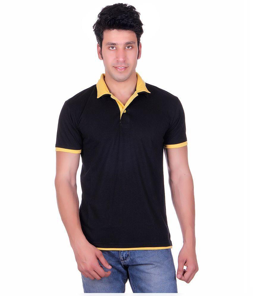 Vivid Bharti Black Henley T Shirts