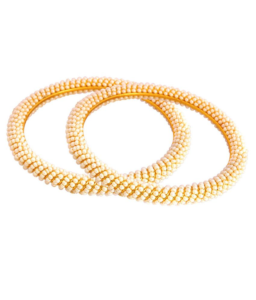 Camy Brass 18K Yellow Gold Plated Bangles Set Of 2
