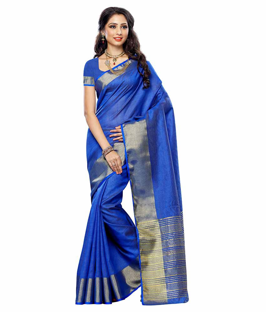 0e272e7720 Mimosa Blue and Grey Tussar Silk Saree - Buy Mimosa Blue and Grey Tussar  Silk Saree Online at Low Price - Snapdeal.com