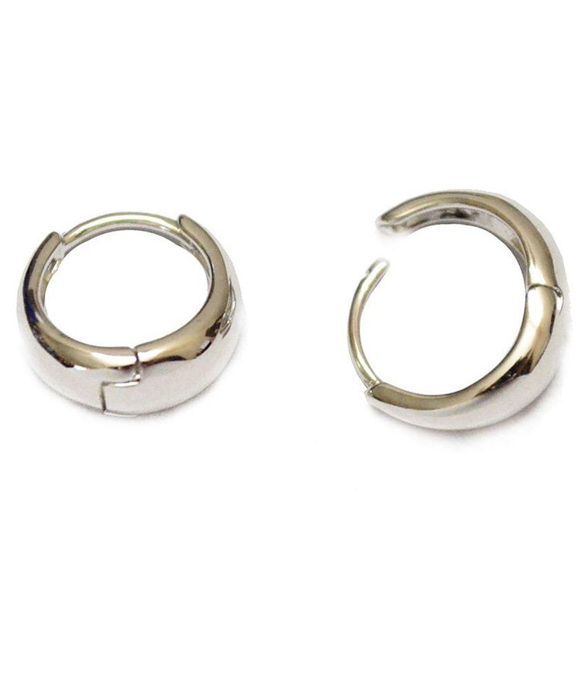 Earrings Men Boys Studs Silver Salman Inspd Kaju Piercing Fashion