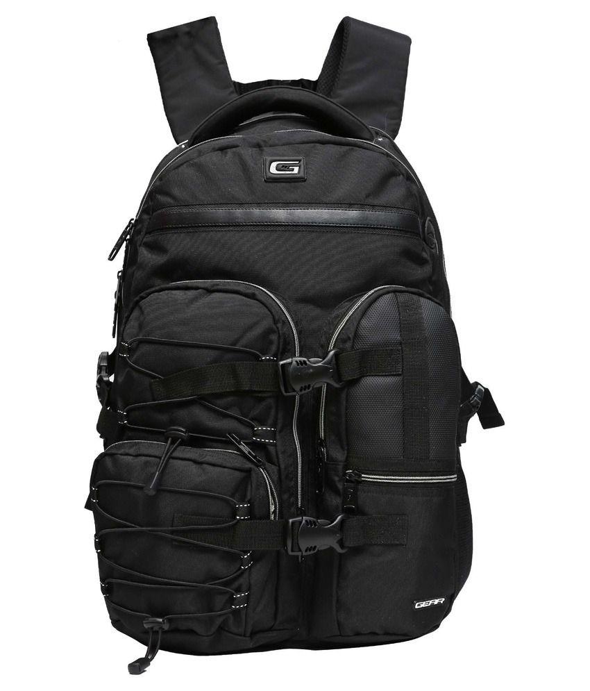 Gear Black Polyester Laptop Bag