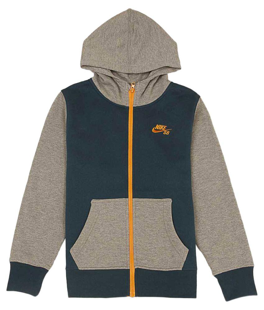 Nike Gray With HoodSweatshirt