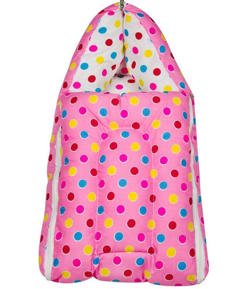 Zura Pink Cotton Baby Bedding Set