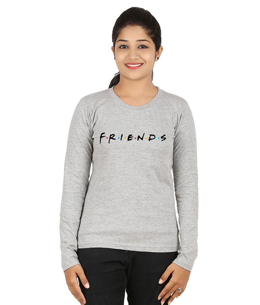 Buy fanideaz friends best tv series of all time grey for Best full sleeve t shirts