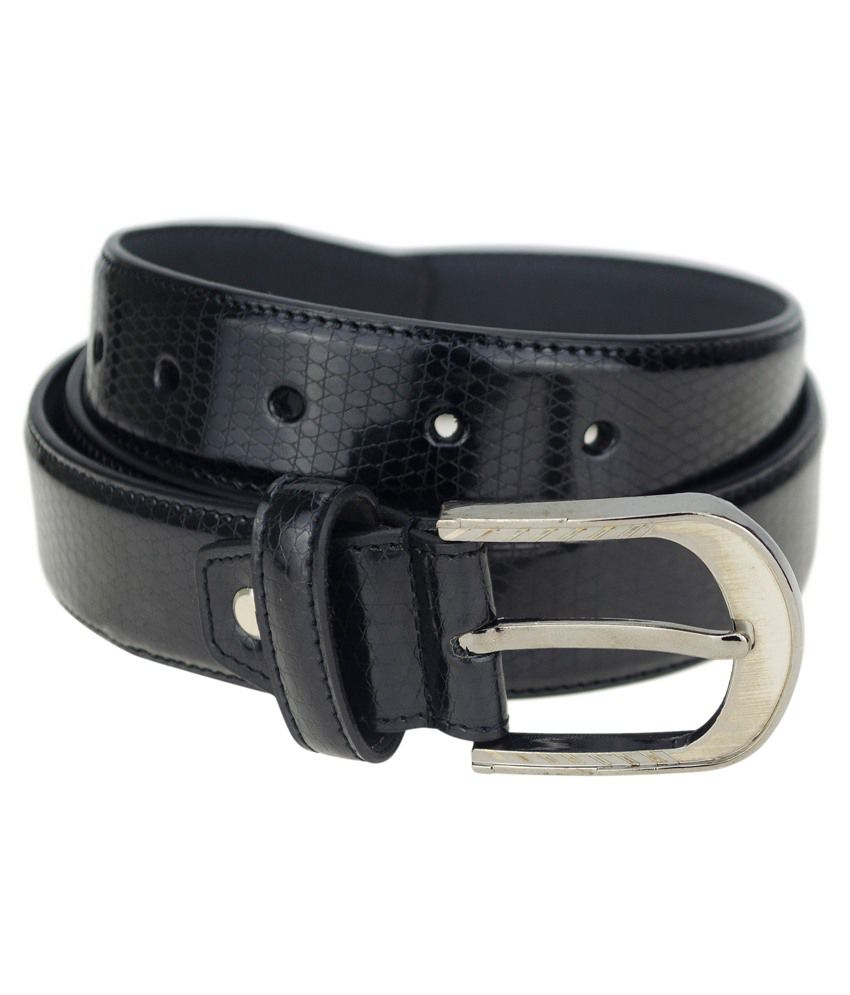 Genious Black Leather Belt For Men