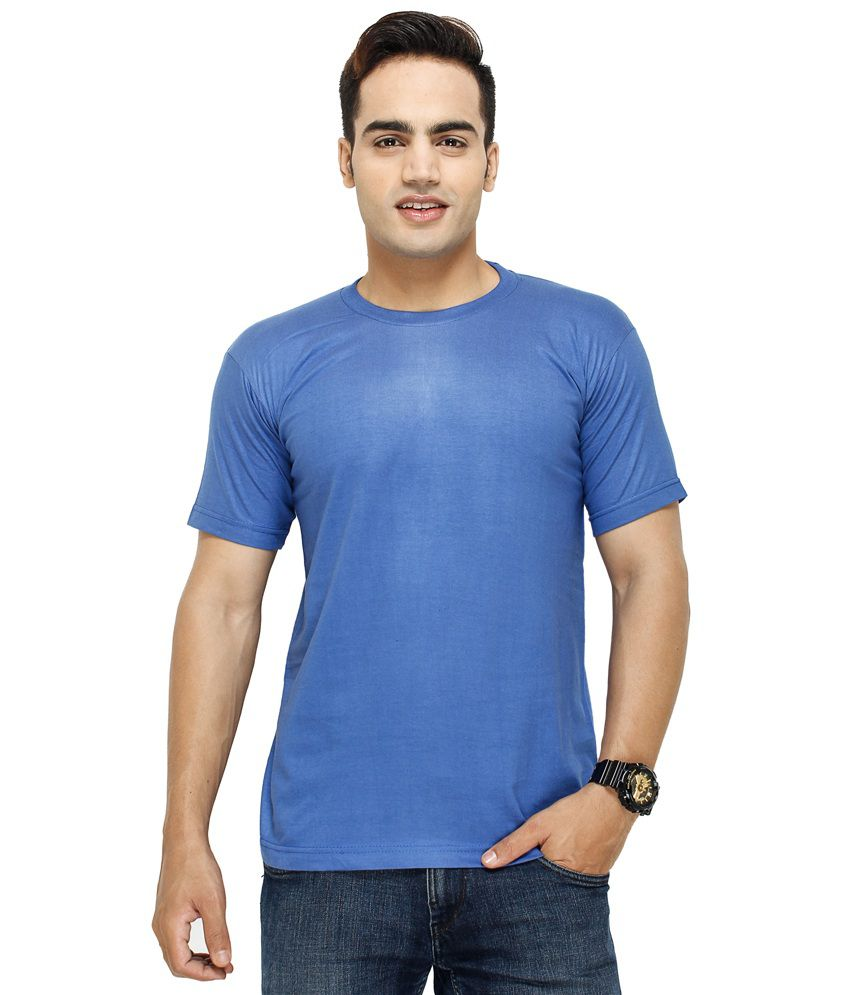 Barsoon Blue Round T Shirts