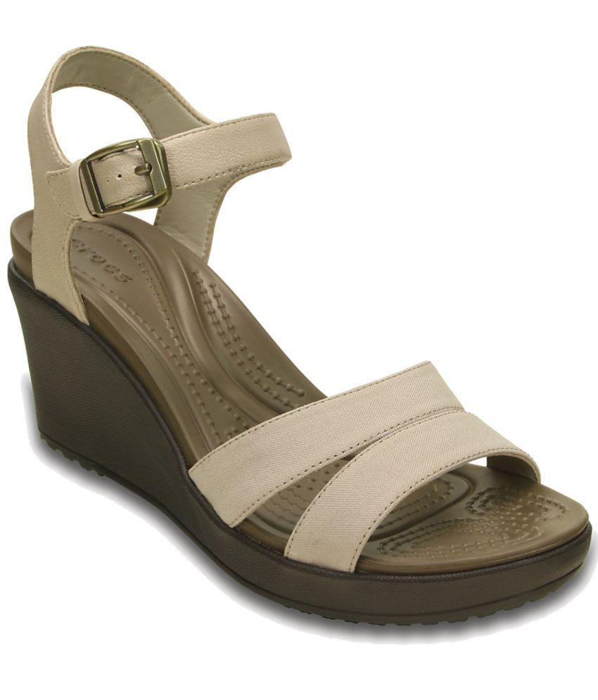 Crocs Beige Heeled Slip-on & Pump Standard Fit