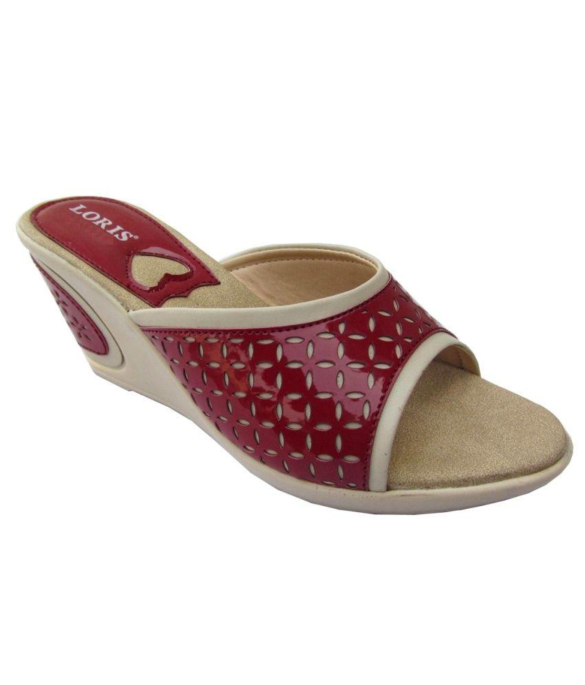 Loris Red Wedges Heels