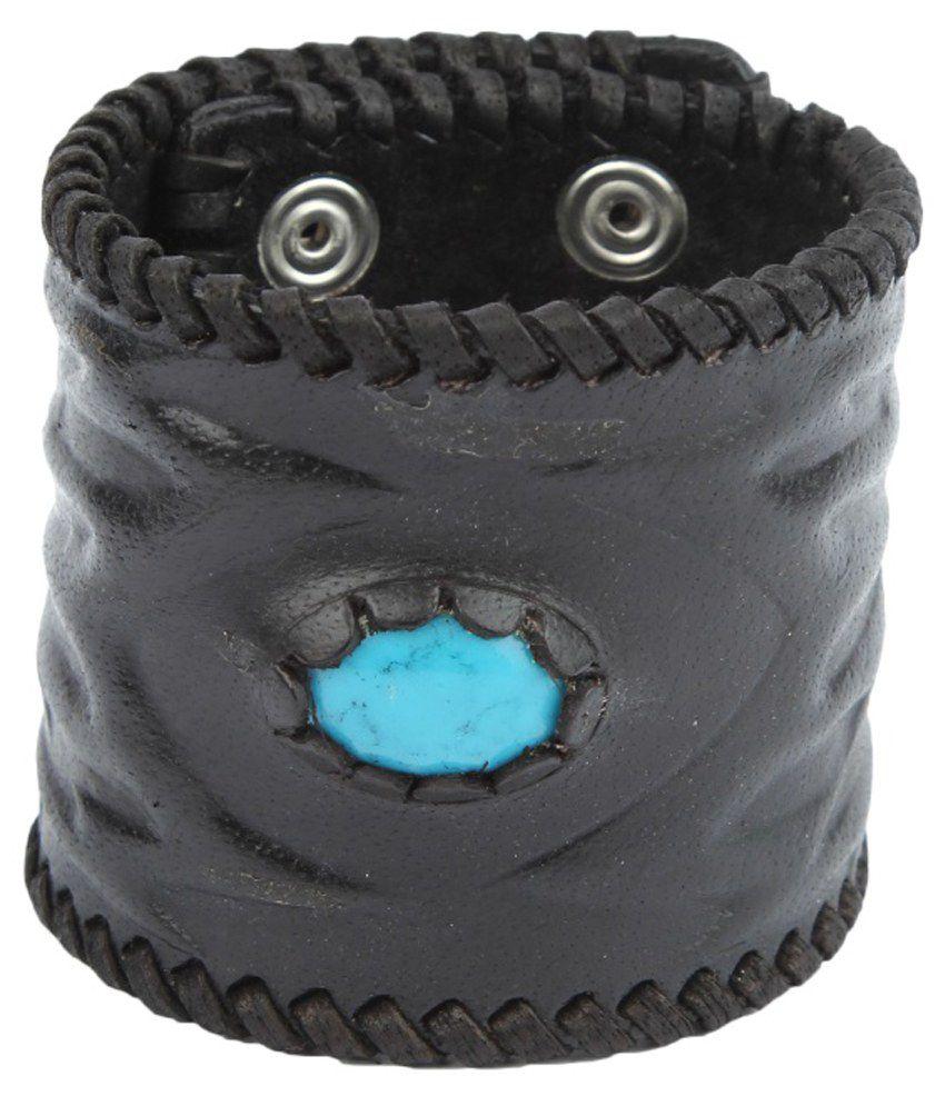 Mojeska Black Leather Bracelet