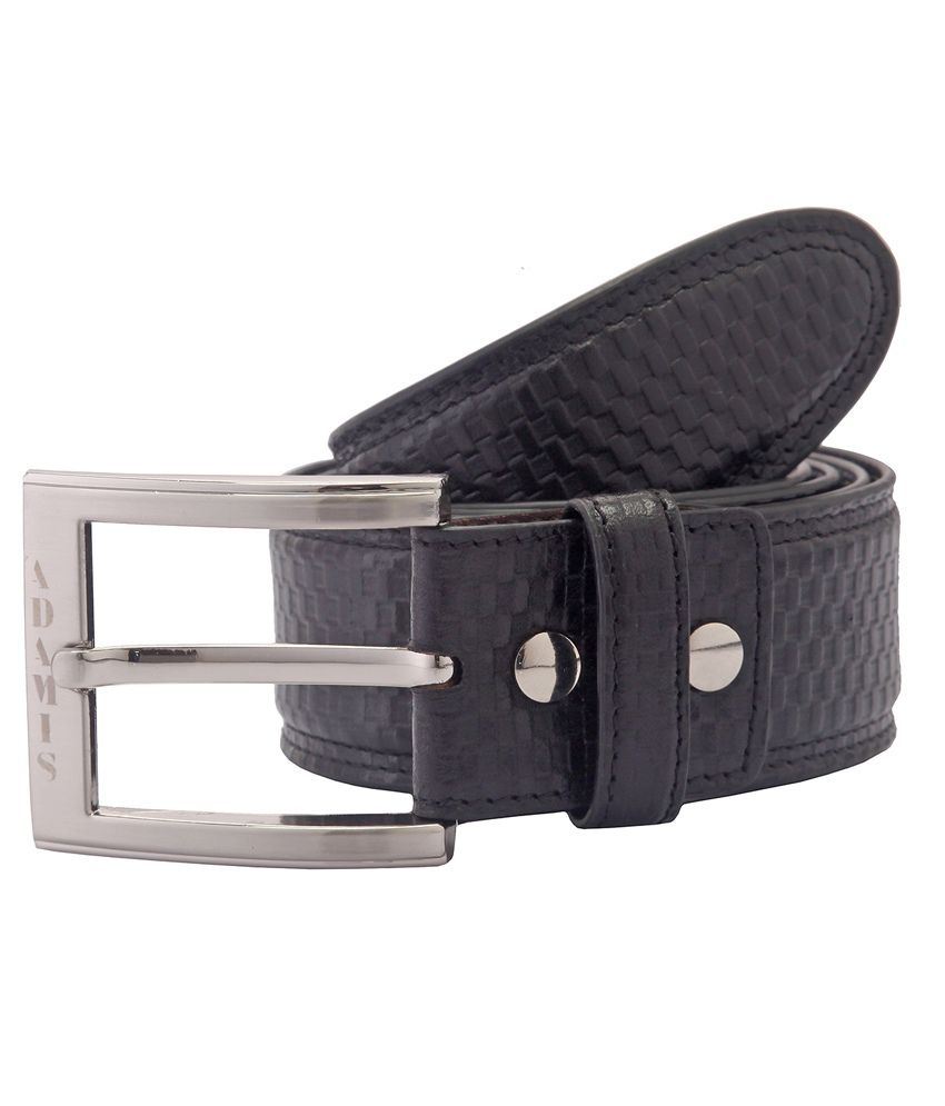 Adamis Black Formal Belt for Men