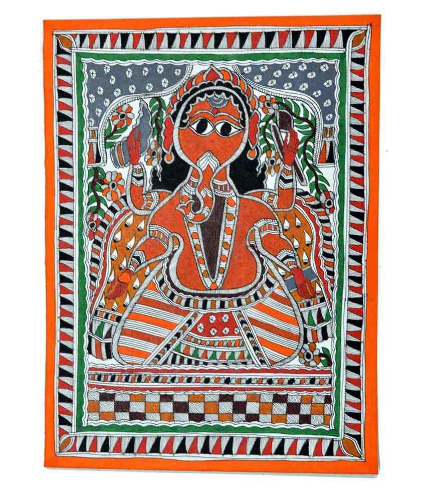 Craftuno Multicolour Lord Ganesha Painting
