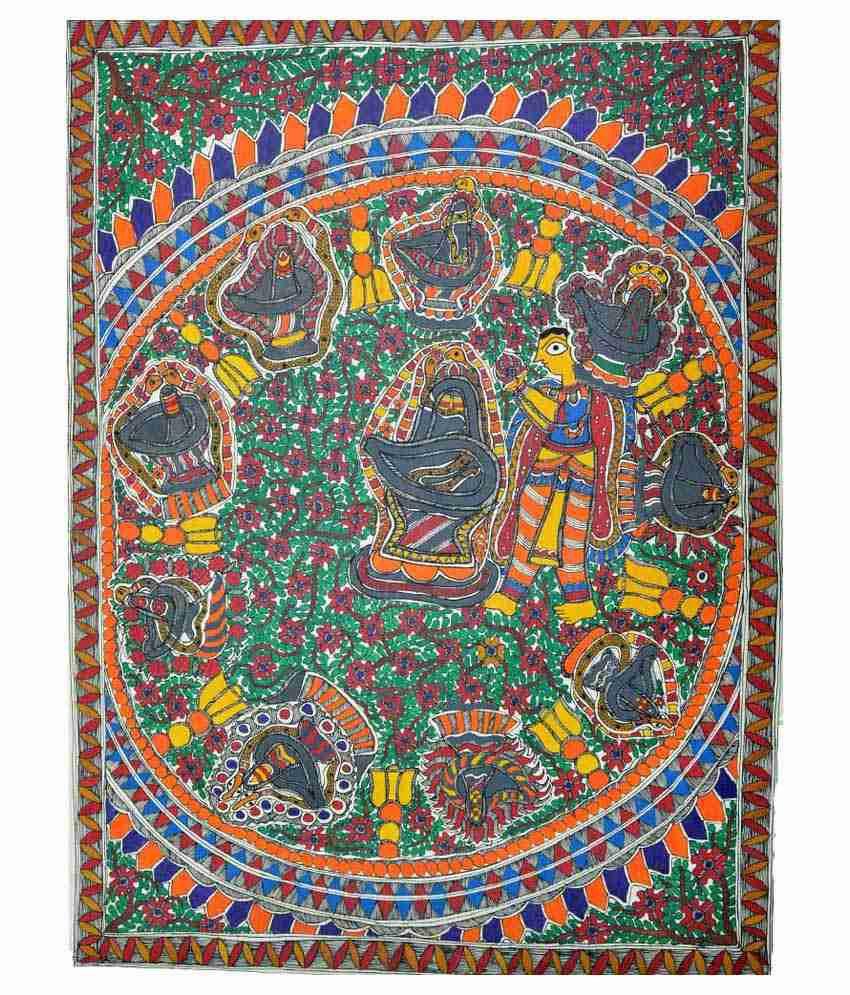 Craftuno Multicolour Shiv Lingams Painting