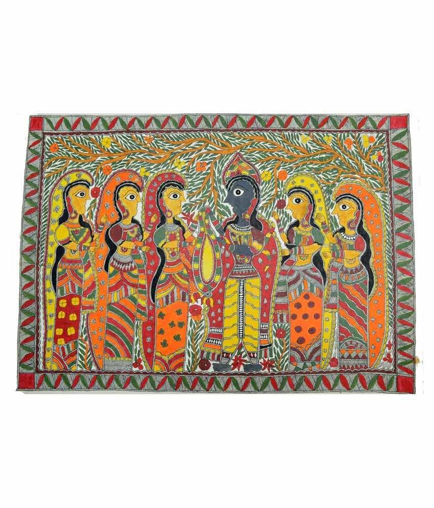 Craftuno Multicolour Varmala Painting