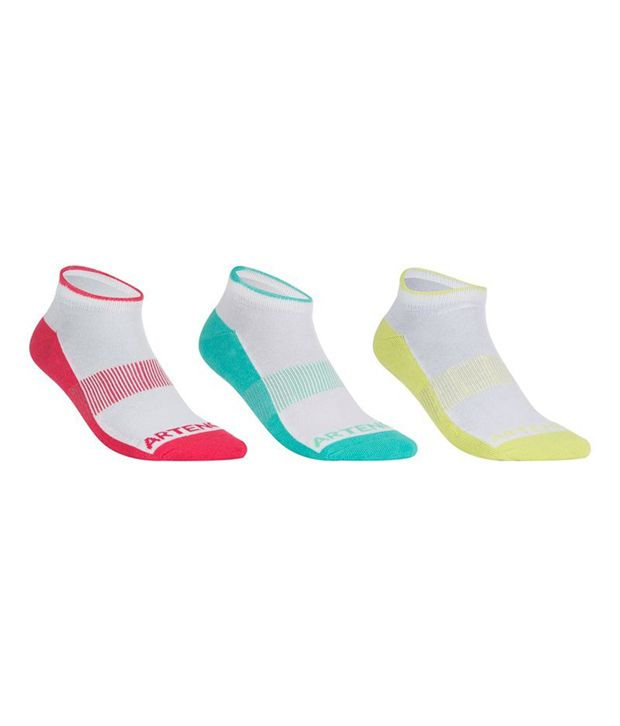 ARTENGO RS 800 Edge Badminton / Tennis Socks x 3