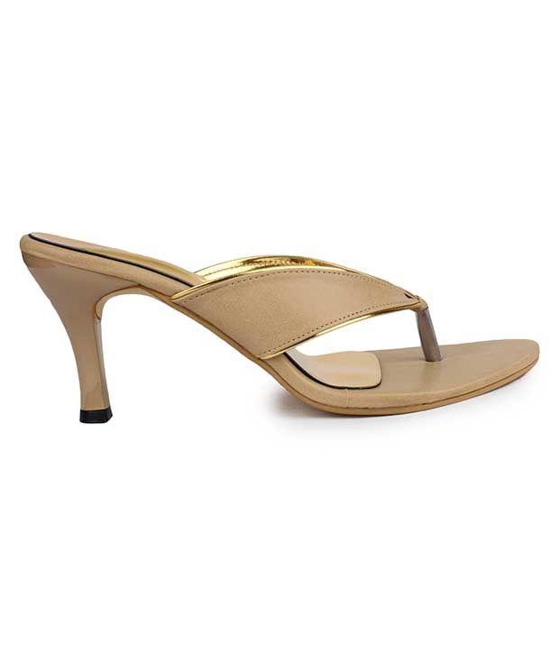 Do Bhai Beige Stiletto Heels
