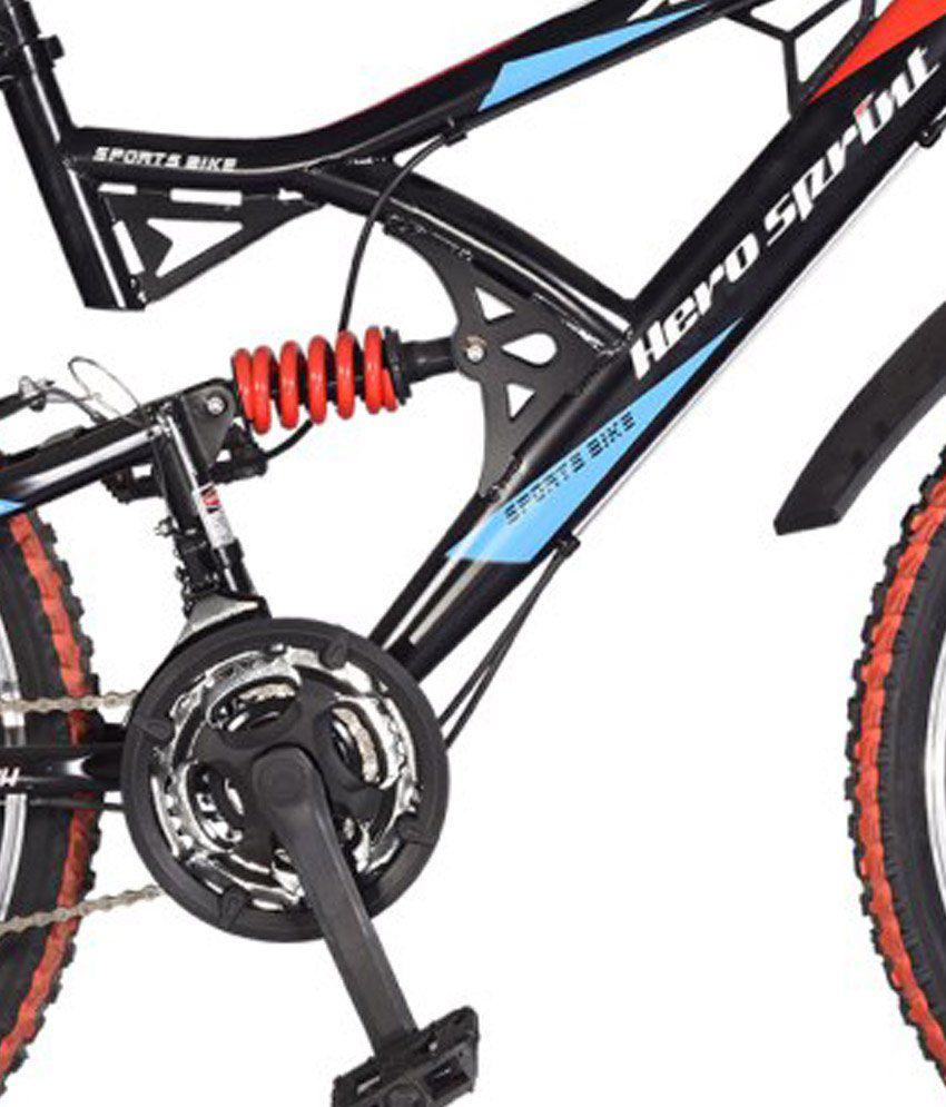 Hero RX2 26T Black & Red 21 Speed Sprint Bicycle with Disc Brake Adult  Bicycle/Man/Men/Women