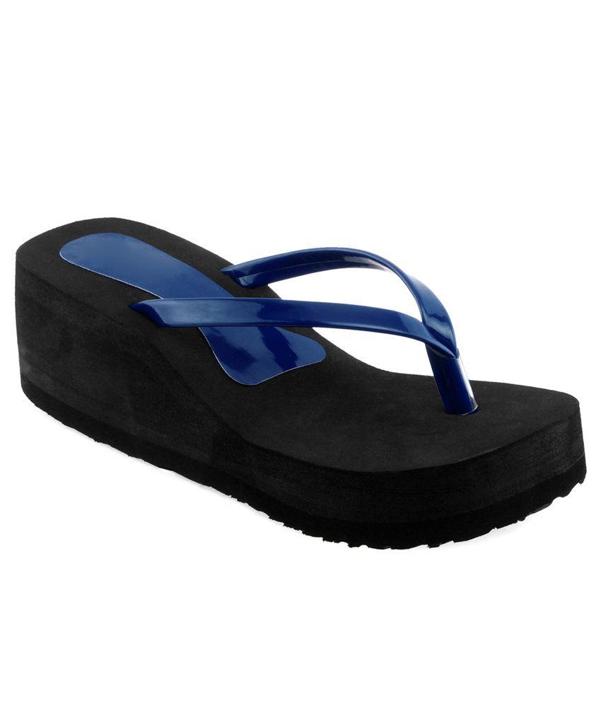 Shoe Lab Blue Platforms Heels