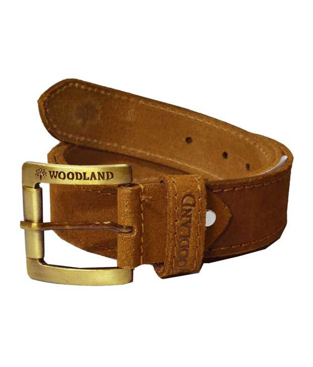Woodland Brown Leather Belt For Men