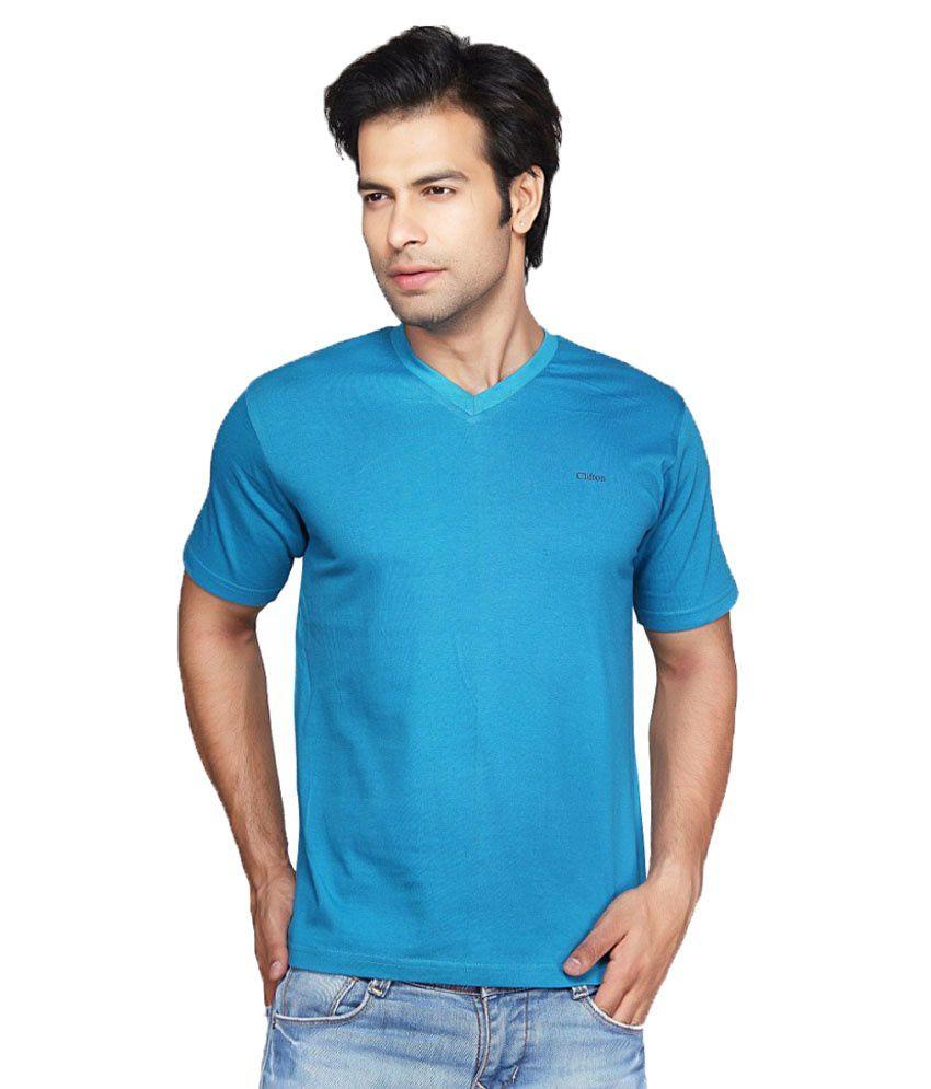 Clifton Fitness Men's V-Neck T-shirt -Royal Blue