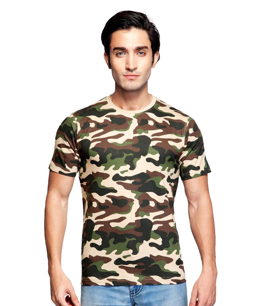 Clifton fitness men 39 s army t shirt saffari buy clifton for Gym t shirts india