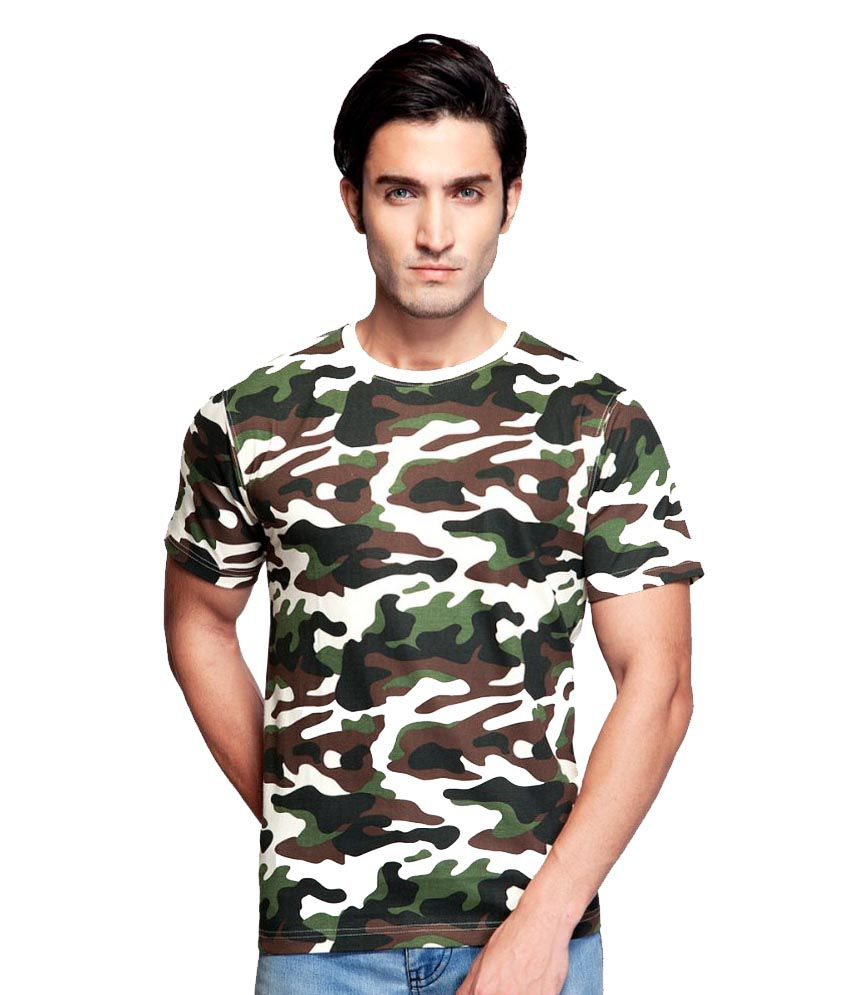 Clifton Fitness Men's Army T-shirt -Off White