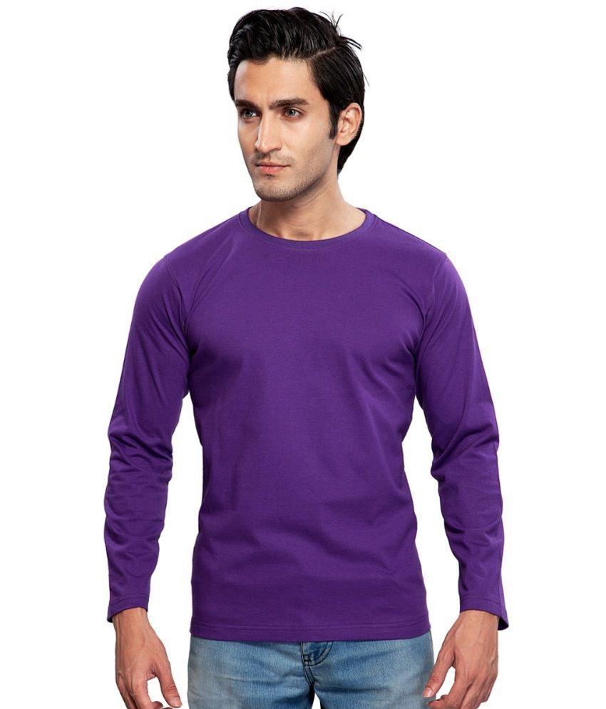 Clifton Fitness Men's Mustee Full Sleeve -Purple