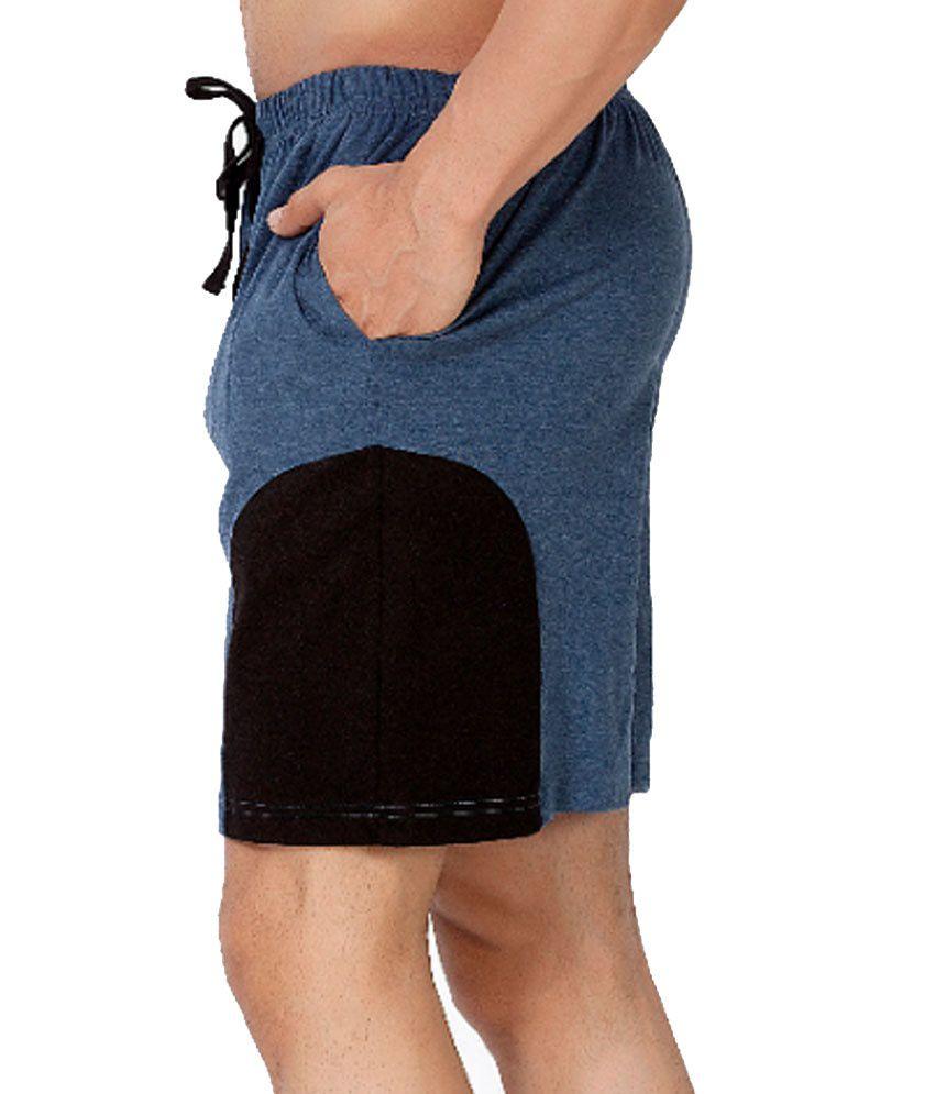 Clifton Fitness Men's Shorts -NavyMelange/Black
