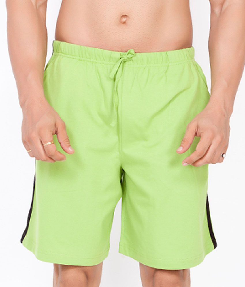 Clifton Fitness Men's Shorts -Parrot Green