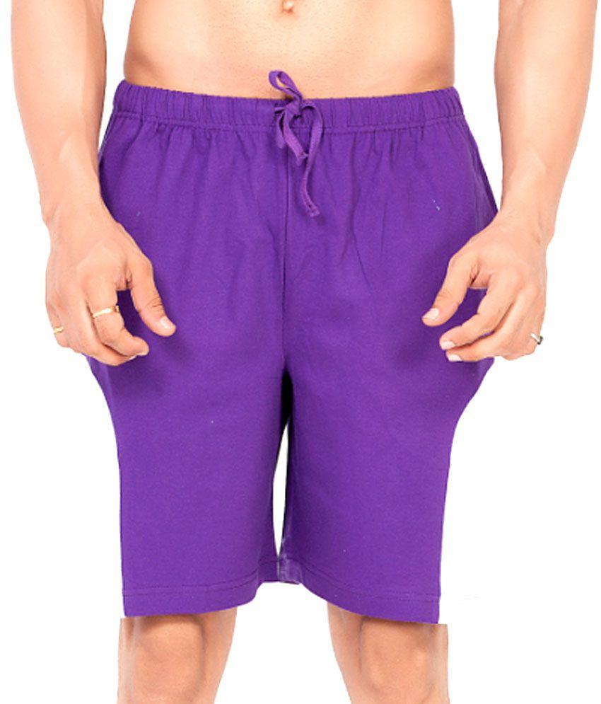 Clifton Fitness Men's Shorts -Purple/White