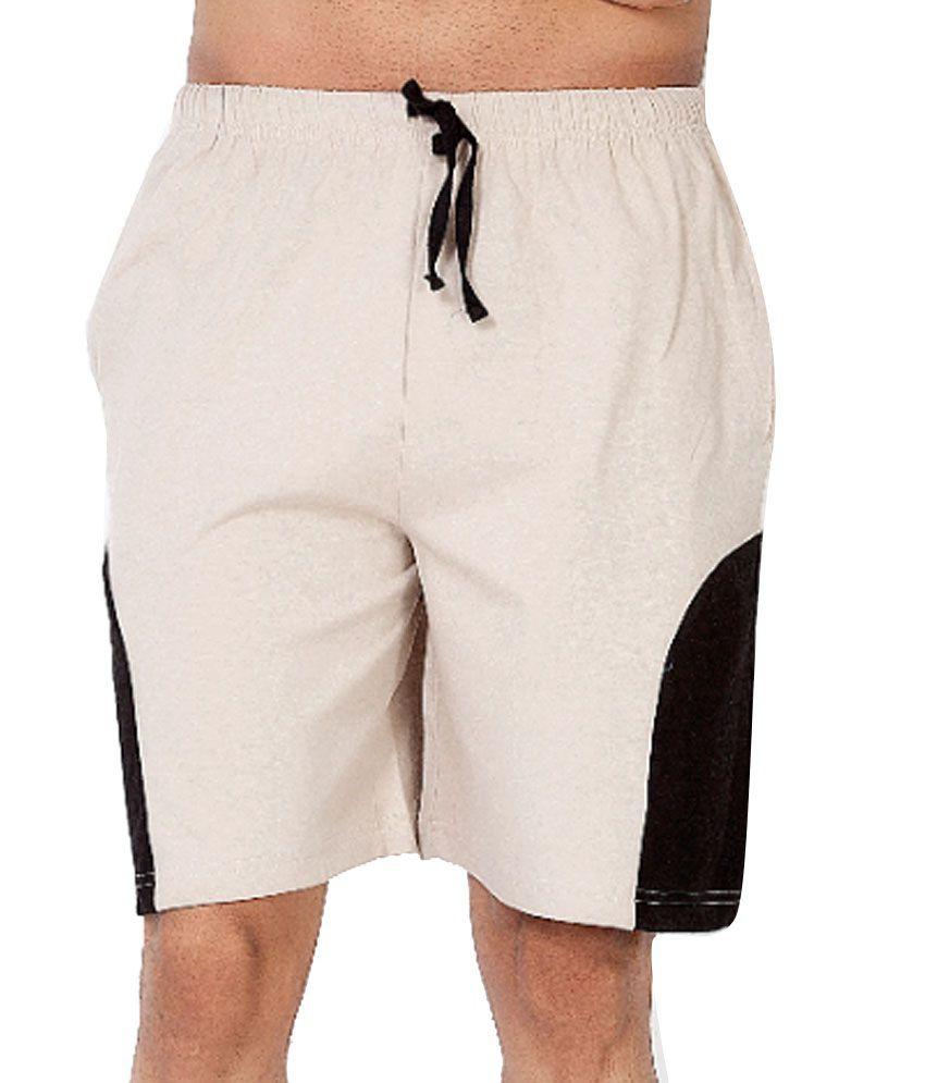 Clifton Fitness Men's Shorts -Stone/Black