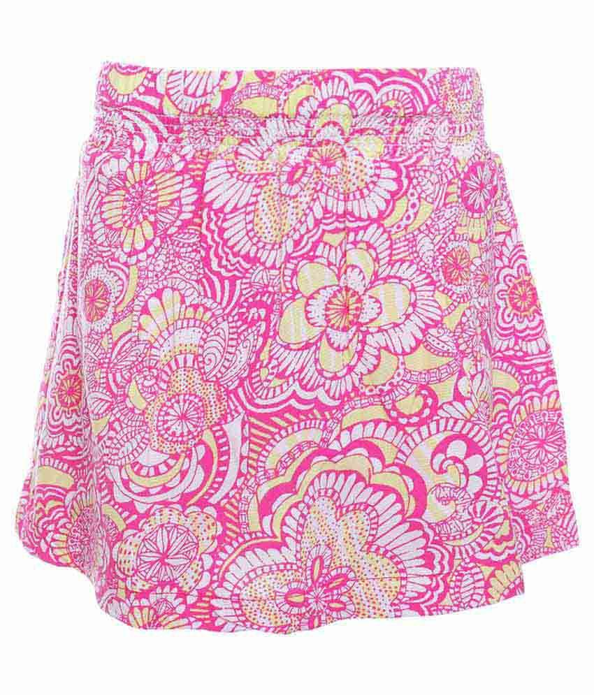 UFO Pink Printed Skirt