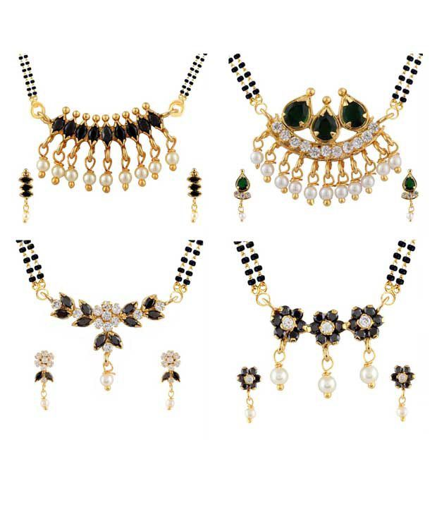 Archi Collection Golden Alloy Mangalsutra Set