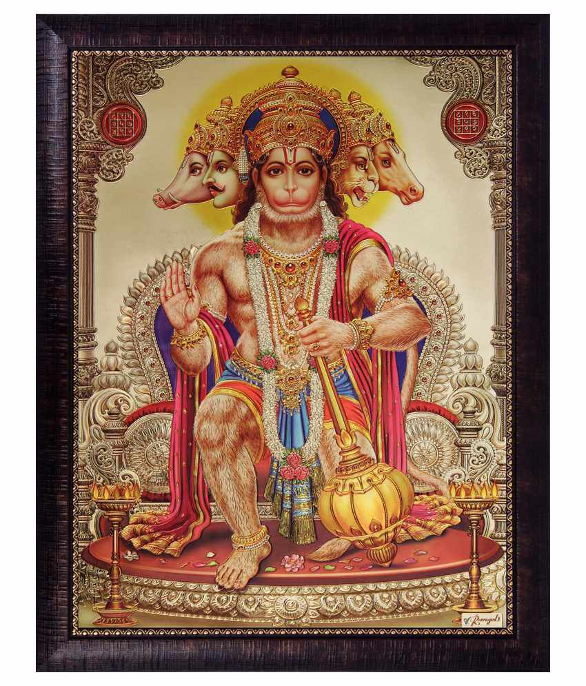 SAF Religious Painting with Wooden Frame