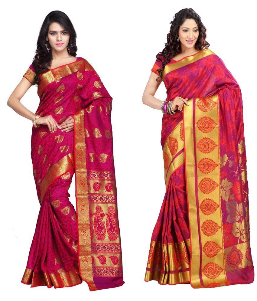 Saree Exotica Multicolor Art Silk Pack of 2