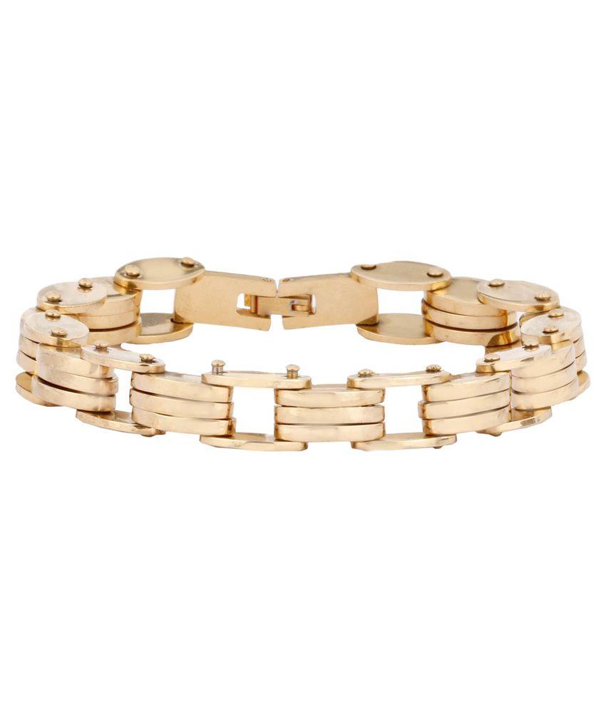 The Jewelbox Golden Designer Bracelet