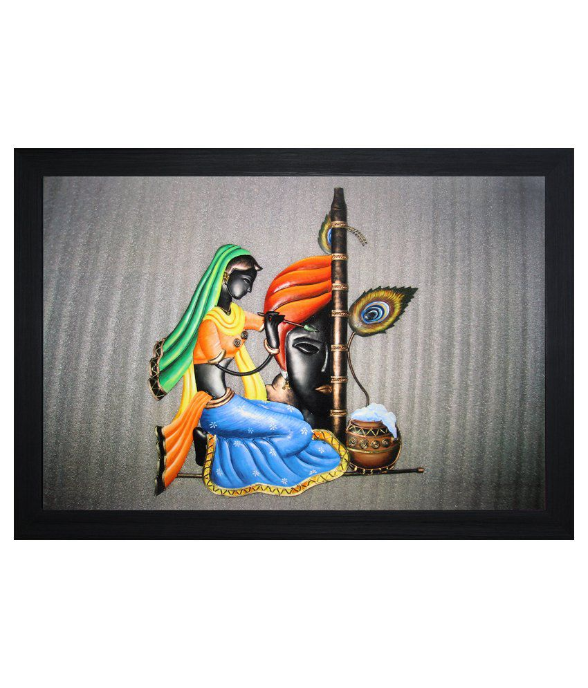 SAF Textured Wooden Religious Painting With Frame